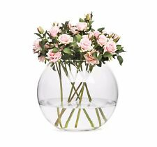 Glass Round Modern Fish Bowl Sphere Style Bud Vase Choice of 6 Sizes