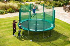 6 8 10 13ft Trampoline with Enclosure Safety Net Weather Proof Patented X Joints