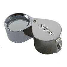 Gift Idea 30x 21mm Jewelers Loupe Magnifier Magnifying Glass Lens  FAST SELLER U