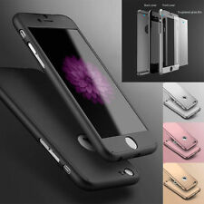 Hybrid 360° Shockproof Case Tempered Glass Cover For Apple iPhone 7 6 6s 7 Plus