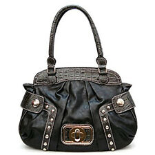 black lock crocodile satchel Bag Handbag Purse Designer Inspired Embedded studs