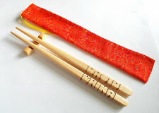 Personalized Chopsticks, Maple Wood, Custom Carved to Order in the USA