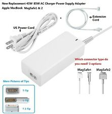 New 45W 85W AC Charger Power Supply Adapter Apple MacBook Pro1& 2+extension cord