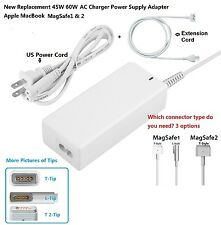 New 45W 60W AC Charger Power Supply Adapter Apple MacBook Pro1& 2+extension cord