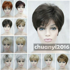 11 colors Short Straight Women Female Lady Hair Full Wig / Perruque + wig cap