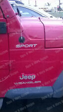 Decal of a Jeep Wrangler Sport Replacement fender stickers