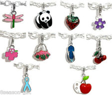 Wholesale Lots Gifts Mixed Clip On Enamel Charms. Fits Link Chain Bracelet