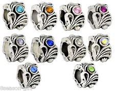 Wholesale Lots Gift Mixed Rhinestone(10Colors) Beads Fit Charm Bracelet
