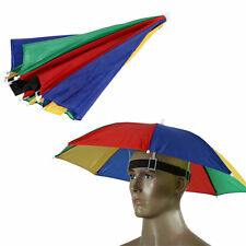 Outdoor Head Umbrella Foldable Sun Golf Fishing Camping Headwear Cap Head Hat