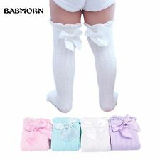 Baby Girls Knee High Socks Kids Children Cute Lace Bows Princess leg Warmers Sol