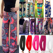 Women Palazzo Harem Pants Hippie Wide Leg Gypsy Yoga Dance Long Bottoms Trousers