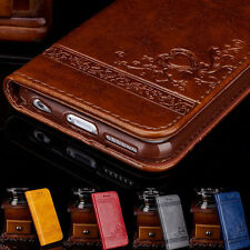 Luxury Retro Wallet Case For iPhone 5 5S SE 6 6S 7 Plus Leather Cover Pouch Flip