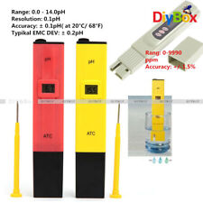 Digital PH Meter  TDS Tester Aquarium Pool Hydroponic Water Monitor 0-9999 PPM