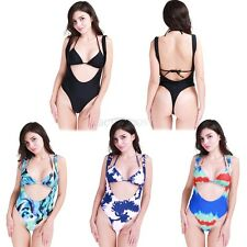 Sexy Women's One Piece Push Up Padded Swimsuit Monokini Swimwear Bathing Bikini