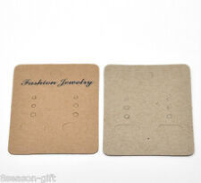"Wholesale Lots  Light Coffee Earrings Jewelery Display Cards 7x5cm(2 6/8""x2"")"
