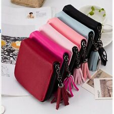Women Leather Small Mini Zip Coin Wallet Lady Card Holder Purse Clutch Handbag
