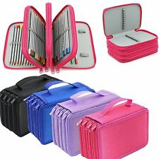 4-Ply High Capacity Box Pouch Bag Makeup Storage Bag Pen Pencil Case Holder NEW