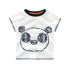 Funky Cartoon Panda Kids Toddlers Boys Girls Short Sleeve T-Shirt Tops  Age 1-5Y