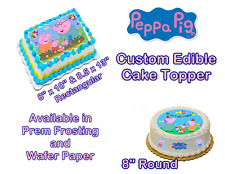 Peppa Pig  Personalize Edible Image Sheets Cake Toppers
