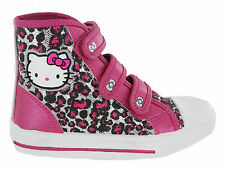 Hello Kitty Peony Canvas Hi Top Pink Glitter Casual Fashion Velcro Shoes Girls