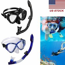 Snorkel Set Dry Top Snorkel Set with Tempered Glass Diving Mask and Dry Snorkel