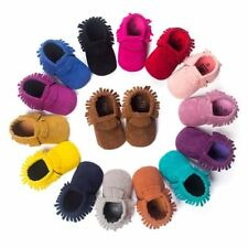 Non-slip Footwear Boy Girl Baby Moccasins Soft Shoes PU Suede Leather Soft Soled