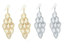 New Costume Jewelry Fashion Drop Dangle Earrings Silver , Gold Leaf Women Leaves