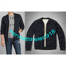 NWT ABERCROMBIE & FITCH MENS WOLF POND SHERPA-LINED SWEATERS NAVY SIZE LARGE A&F