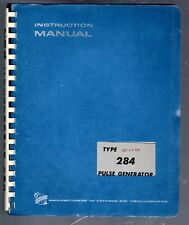 Original Tektronix Instruction Manual for the 284  Pulse gen