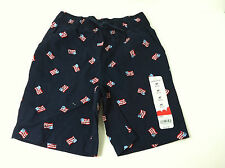 NWT Jumping Beans Navy Flag Printed Shorts Infant Toddler Sz.9Mo, 3T, 4T New