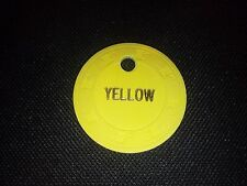 Paulson Tophat and Cane Yellow Color Sample Chip Casino Poker Gambling