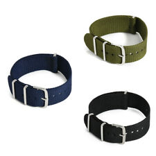 18-22mm Unisex Infantry Military Army Fabric Buckle Nylon Wrist Watch Band Strap