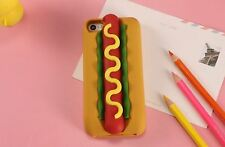 3D Hotdog Sandwich Silicone Soft Flexible Case Cover for Iphone 5 6/6s 7 Plus