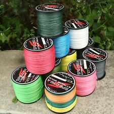 Hot Multi-Color White Fluorescent Green 4Strands PE Braided Dyneema Fishing Line
