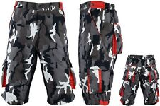 ProAthletica Mens Camo MTB Off Road Cycling Shorts CoolMax Padded Liner Shorts