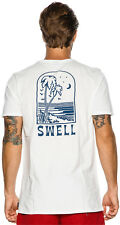 New Swell Men's Perfection Ss Tee Crew Neck Short Sleeve Cotton White