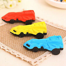 Students Cartoon Racing Car Rubber Stationery Kid Gift Toy Eraser