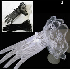 Lace Fishnet Wedding Bridal Gloves Lace Fingered Glove For Party WeddingU6KS