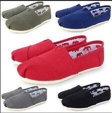 Men's Women's Classics TOM Loafers Canvas Slip-On Flats shoes Size 6-15