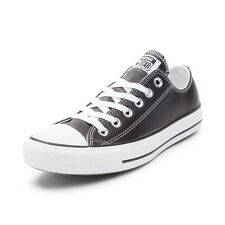 NEW Converse Chuck Taylor All Star Lo Leather Sneaker Black White Leather Mens