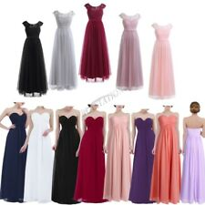 Womens Chiffon Maxi Formal Party Lace Ball Gown Cocktail Bridesmaid Long Dresses
