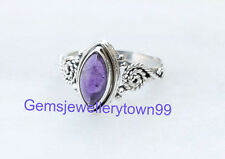 Blue Amethyst Ring 925 Sterling Silver Ring stone Ring Size 6 7 8 9 10 11 R11AM