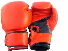 SSCO Leather Boxing Gloves MMA Sparring Punch Bag Muay Thai Training Gloves