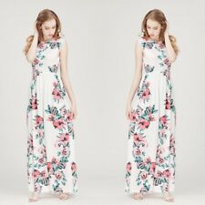 Floral Printed Long Sleeve Spaghetti Strap Ankle Length Dress For Women