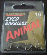 Kamasan Animal Eyed Barbless B911 Hooks Carp Fishing - All Sizes