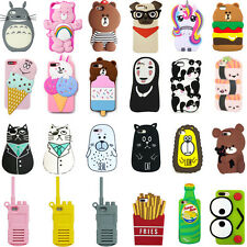 For iPhone 3D New Phone Case Cover Cute Animals Cartoon Soft Silicone Back Skin