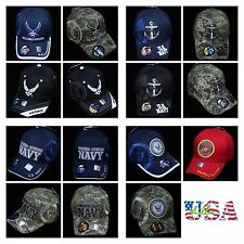 U.S. Navy Baseball Cap Air Force Marine Military Army Logo Hats License Camo Hat