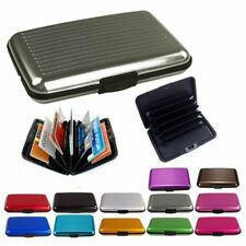 Slim Business ID Credit Card Wallet Holder Aluminum Metal Pocket Case Box R