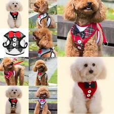 Small Medium Pet Dog Cat Adjustable Soft Harness Lead Leash Collar Strap Vest