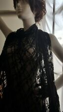 Black 4 way Floral Design Stretch Lace Fabric US SHIPPER